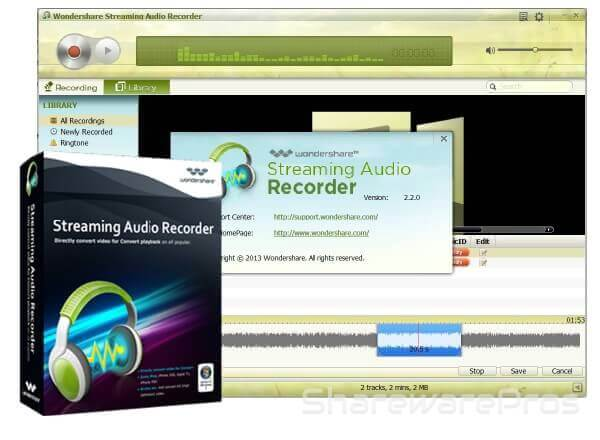 <b>Wondershare</b> <b>Streaming</b> <b>Audio</b> <b>Recorder</b> 2.3.5 <b>Crack</b> Full