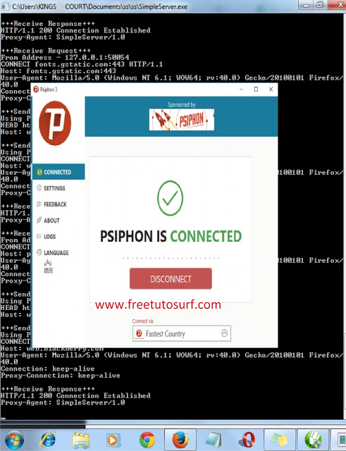 psiphon , simple server,fast,brute force